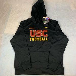 NWT XL Nike Dri-Fit USC Trojans Black Hoodie